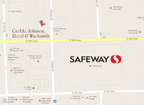 Grebb Johnson Reed & Wachsmith is diagonally northwest of Safeway